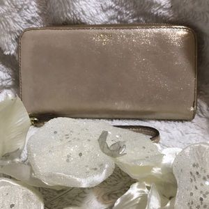 FOSSIL GOLD LEATHER WALLET